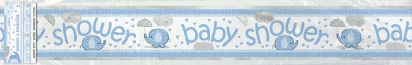 Umbrellaphants Blue Foil Banner